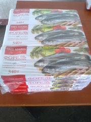 Продажа рыбы с/м и охлаждённой в ассортименте
