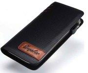 Мужской кошелек(бумажник), из лакированной кожи.