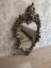 Большое зеркало в раме под старинную бронзу